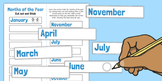 of the year cut and stick ordering activity ordering