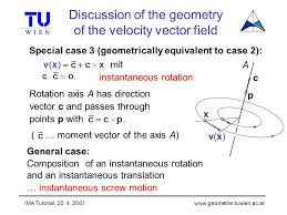 tutorial vector c ima tutorial instantaneous motions applications to problems in
