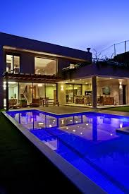 interior pretty luxurious modern house swimming pool and