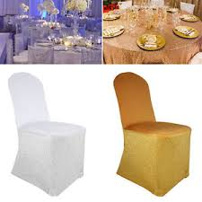 gold chair covers glitter spandex chair covers flat front wedding banquet fashion