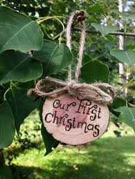personalized rustic christmas ornament primitive wood slice gift