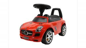 cars mercedes red liscensed mercedes benz push ride on car for kids baby racer red