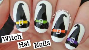witch hat nail art halloween tutorial youtube