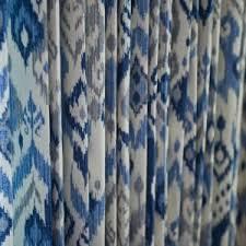 Blue Ikat Curtain Panels Decor Beautiful White Ikat Curtains With Blue Pattern