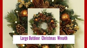 large outdoor christmas wreath youtube