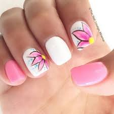 50 pink nail art designs yellow accents and flower