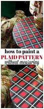 paint a plaid pattern without measuring