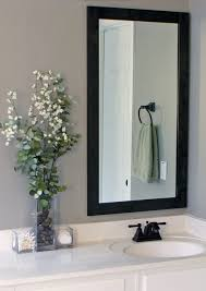 Frame Bathroom Mirror How To Frame Bathroom Mirrors Gray House Studio