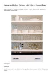 customize kitchen cabinets with colored contact paper