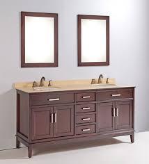 cherry bathroom mirror madison 72 double sink bathroom vanity with mirror in cherry brown