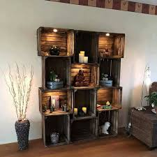 Wood Shelf Plans For A Wall by 25 Best Wood Crate Shelves Ideas On Pinterest Crates Crate