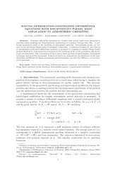 solving optimization constrained differential equations with