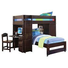 lars kids loft bed with twin bed wenge twin twin acme target