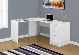 bureau en coin bureau d ordinateur blanc en coin verre trempé monarch i7136