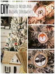 diy painted woodland animal ornaments bustamante