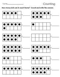 25 best math activities ten frames images on pinterest math
