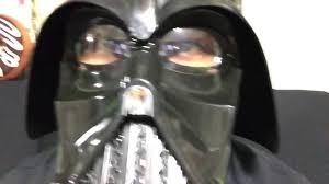 darth vader halloween costume darth vader rubie u0027s costumes two piece helmet review youtube