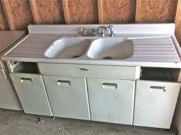 vintage cast iron sink drainboard great vintage cast iron kitchen sink 1950 s single basin double