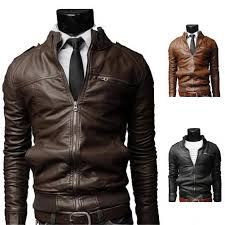 mens motorcycle leathers men u0026 039 s fashion jackets collar slim motorcycle leather jacket
