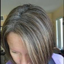 client wanted to go out old color and rock her gray hair susan put