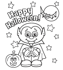 cute halloween coloring pages for kids archives throughout