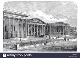 1880 british museum front facade central london city royal urban