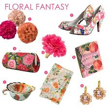 floral accessories fabulous finds floral print accessories exquisite weddings