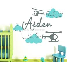 compare prices on clouds nursery decor online shopping buy low personalized name helicopter wall decal airplanes with clouds vinyl decals boy bedroom nursery decor art