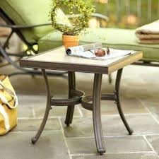 lowes outdoor side table aluminum aluminum outdoor side tables patio tables the patio accent