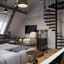 interior design creative painted brick wall interior design