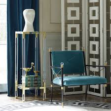 lucite pedestal table from jonathan adler armchairs pinterest