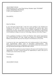 astounding cover letter sample for fresher mechanical engineer 79