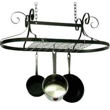 lighted hanging pot racks kitchen hanging pot racks and pot holders organize it