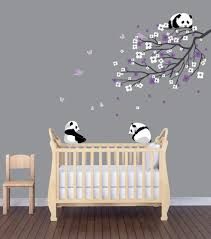 Wall Mural Dense Forests Peel Amazon Com Panda Nursery Decals Panda Wall Decal Branch Decal