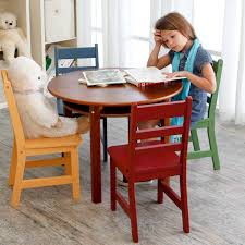 lipper childrens table and chair set lipper childrens walnut round table and 4 chairs hayneedle