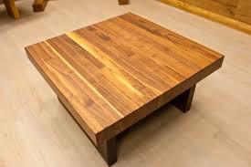 coffee table rustic wood block coffee table ideas block coffee
