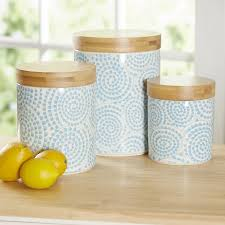 turquoise kitchen canisters wilshire 3 kitchen canister set reviews birch