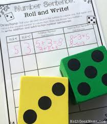 writing addition and subtraction number sentences