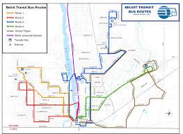 Rockford Illinois Map by Beloit Bus Routes Map Beloit Wisconsin U2022 Mappery