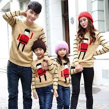 matching family clothing 2016 autumn winter family look