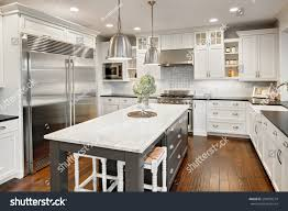 kitchen interior new luxury home stock photo 250878214 shutterstock kitchen interior in new luxury home