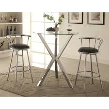 Bar Table And Stool Set Coaster Bar Units And Bar Tables 3 Pub Table Set With Swivel