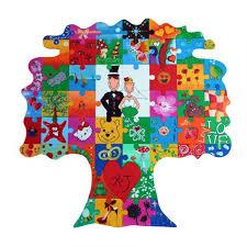 das perfekte hochzeitsgeschenk holz puzzle baum zum bemalen ist das perfekte hochzeitsgeschenk