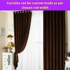 Curtain Width Per Curtain Coffee Brown Cappuccino Fabric Bedroom Door Curtains Design Drapes