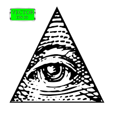 all seeing eye of the order vector illustration stock