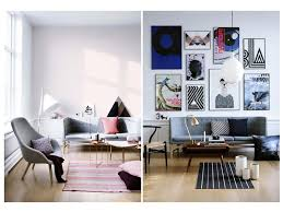scandinavian design com with simple pink rug design for