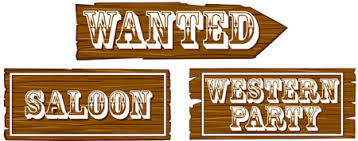 western signs assorted cutout decorations parties4kids