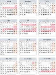 Kalender 2018 Helgdagar Röda Dagar 2017 Alla Lediga Dagar 2017