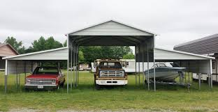 Garage With Carport Steel Building 42x21 Carport Barn Style Metal Shelter Garage Free