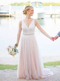 blush wedding dress is a perfect selection for the most romantic